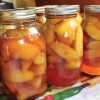 Canning summer's end: Peaches and beets with honey