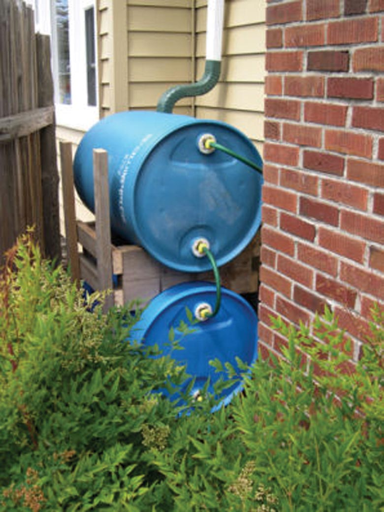 how to save rain water Why save rain water only ¼ inch of rain is needed to fill a 60 gallon barrel sixty gallons can cover about 100 square feet with 1 inch of water.