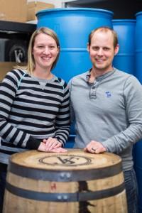 Stacey and Ben Lazowski of Valley Shine Distillery. PHOTO BY JESSAMYN TUTTLE