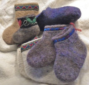 Make booties, mittens and more at a Wool Felting class hosted at Harmony Fields in Bow on Jan. 24. COURTESY PHOTO