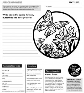Junior Growers page May 2015