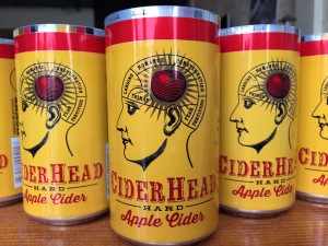 Honey Moon made a first run of 10,000 cans of its hard cider. Flavored ciders include orange, blueberry, honey, rhubarb and raspberry (below). COURTESY PHOTOS