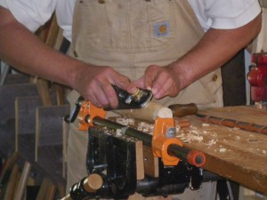 Use a handplane during the shaping and smoothing process. PHOTO BY LISA PIERCE