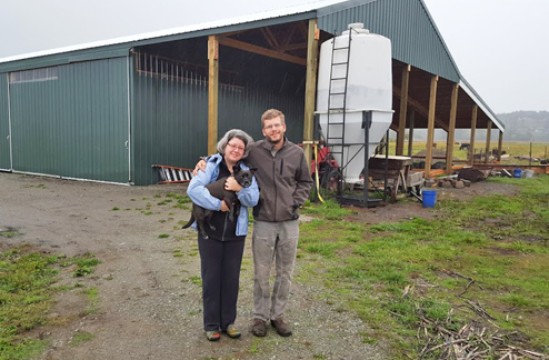 Owners Jeniffer Tobon and Jeff Richardson, of Thoughtful Food farm in Bow, are thankful for the community's support during the rebuilding process following a devastating fire in February 2014. They are also launching Chuckanut Organic Garlic, a new venture into the garlic seed business, offering several varieties including Romanian Red (below). More farm photos and updates are available on their website and Facebook page. COURTESY PHOTOS