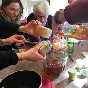 Making a medicinal recipe together. COURTESY PHOTO