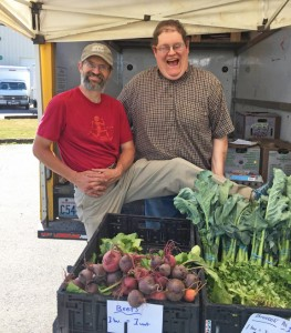 Cedarville Farm co-owner Mike Finger (left) and Matt Citron. PHOTO BY CAT CARNELL