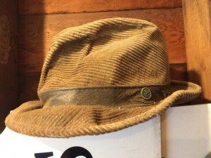 One of founders Joe Bertero's signature hats rests in a storage area at Joe's Gardens. PHOTOS BY MARY VERMILLION