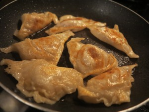 pot stickers in pan web