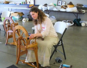 Woolcrafts is one of the many divisions available at the fair. Attendees  can watch the techniques of carding, drop spindle, hand spinning, felting, weaving, and more. Photo courtesy of Whatcom County Youth Fair