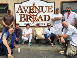 The first delivery of Cairnspring Mills flour to Avenue Bread's headquarters bakery (above) in 2017. The bakery is currently making eight styles of breads that feature Cairnsprings Mills flour. COURTESY PHOTOS