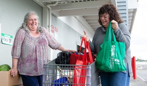 Dianne has been helping Babbette with grocery shopping, and enjoy each other's company. PHOTO BY CLINTON JAMES PHOTOGRAPHY