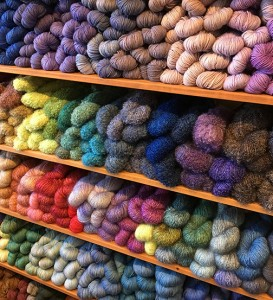 Explore the countless colors and blends at local yarn stores during the annual tour. PHOTO BY PUGET SOUND LYS TOUR