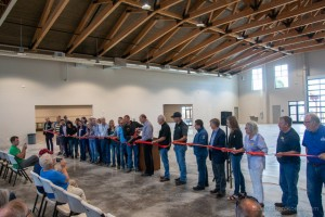 Construction of the new Farm Pavilion was completed in time for this year's Fair, with a ribbon cutting held in July. Photos by Sarah Eden Wallace/Blue Ribbon Stories