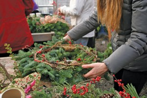 Local wreathmaking options include at Garden Spot Nursery in Bellingham, above (COURTESY PHOTO) at Christianson's Nursery in Mount Vernon and more. PHOTO BY EVE BOE
