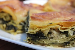 Spanokopita. PHOTO BY MARISA PAPETTI